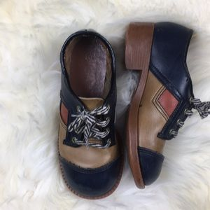 "Other - Navy and Tan 1"" Heeled Vintage Saddle Shoes 10.5"
